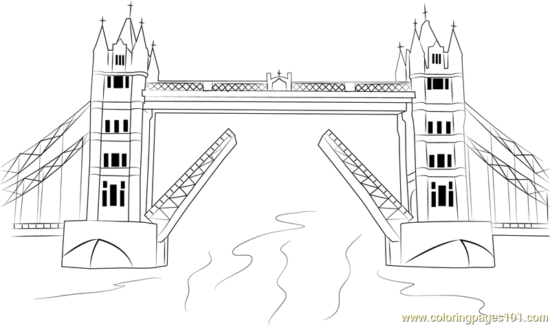 Tower Bridge Coloring Page