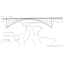 Lewiston Queenston Bridge Free Coloring Page for Kids