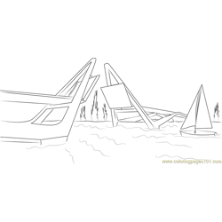 Open Hatea Bridge coloring page