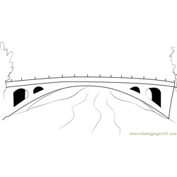 Openspandrel Segmental Arch Bridge coloring page
