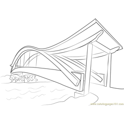Pedestrian Bridges Free Coloring Page for Kids