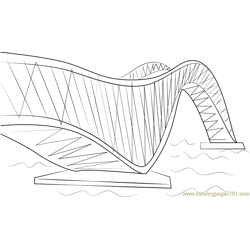 Puente de Zhoushan China Free Coloring Page for Kids