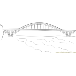 Sellwood Thru Arch Free Coloring Page for Kids