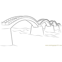 Simple Bridge Free Coloring Page for Kids