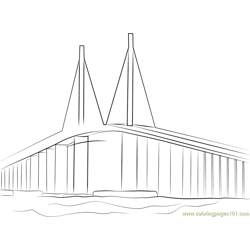 Sunshine Skyway Bridge Free Coloring Page for Kids