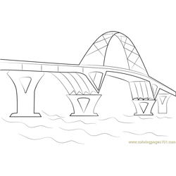 TR CrownPoint Bridge Free Coloring Page for Kids