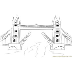 Tower Bridge Free Coloring Page for Kids