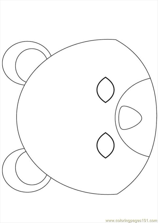 Bear Mask Source Jxn Coloring Page
