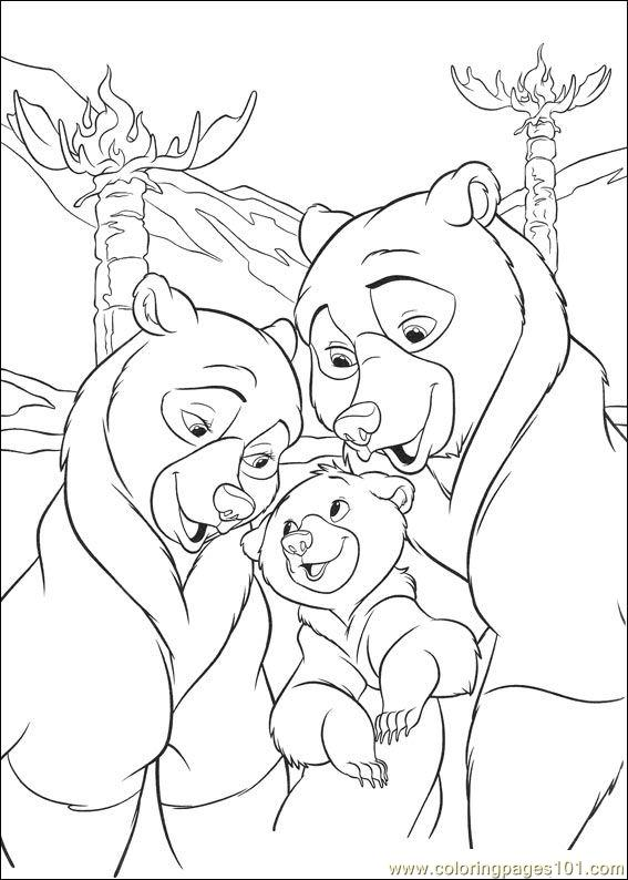brother bear 2 18 coloring page - Brother Bear Moose Coloring Pages