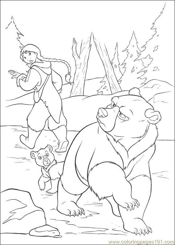 brother bear 2 28 coloring page