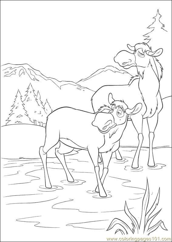 brother bear 2 30 coloring page - free brother bear coloring pages ... - Brother Bear Moose Coloring Pages