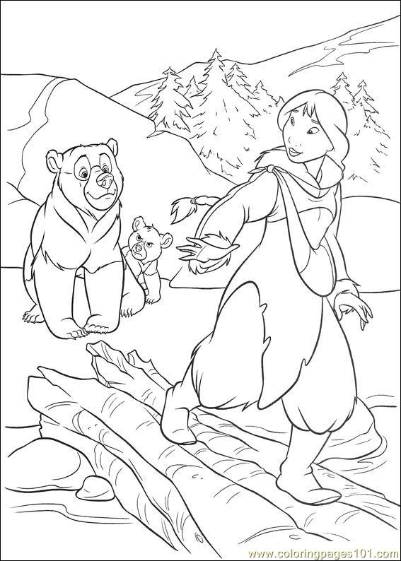 Brother Bear 2 50 Coloring Page