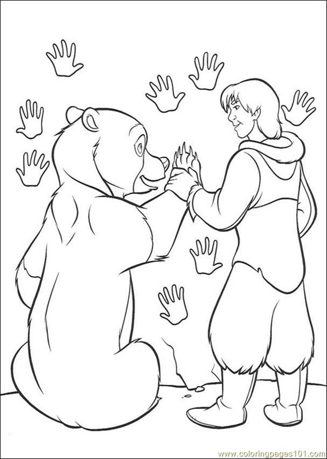 Frere Des Ours Coloring Page