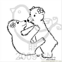 Bear1 Free Coloring Page for Kids