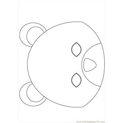 Bear Mask Source Jxn Free Coloring Page for Kids