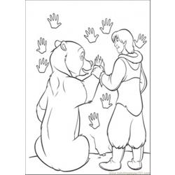 Make Hand Print Coloring Page