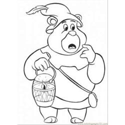 Uncle Bear Coloring Page