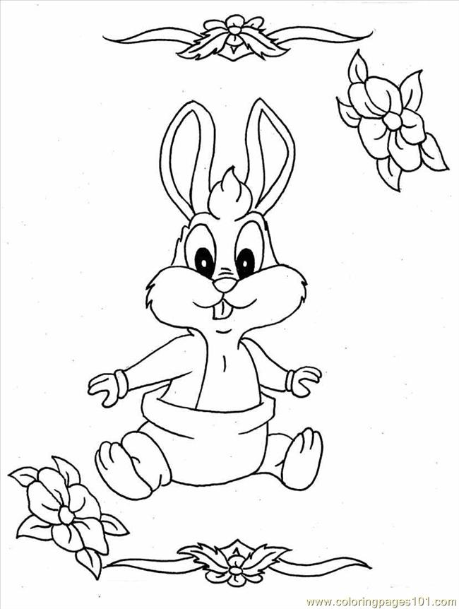 baby bunny full coloring page