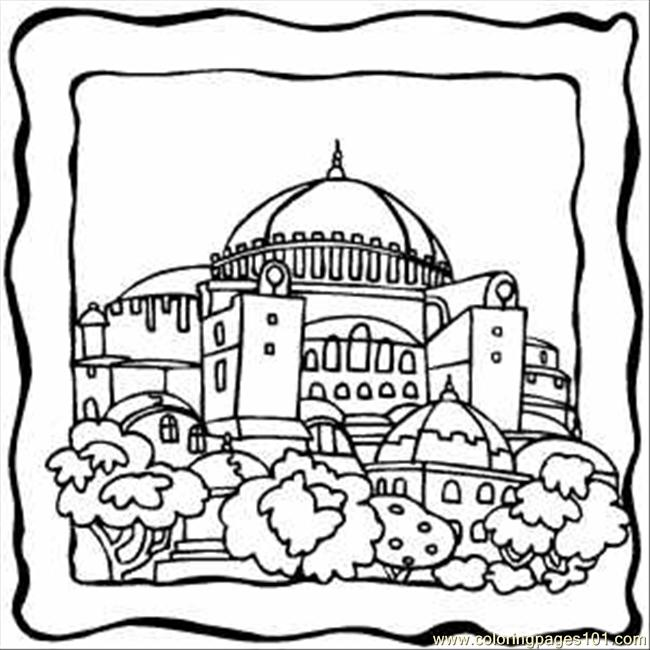 Dome Building Coloring Page