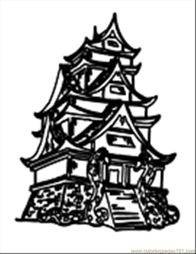 Asianbuilding01 Coloring Page