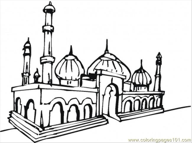 Mosque Coloring Page - Free Religions Coloring Pages ...