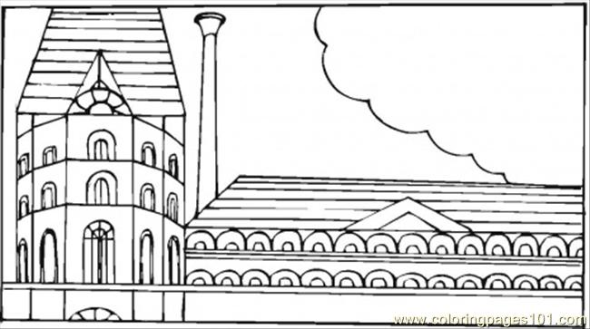 Big Museum Coloring Page