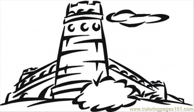 Big Tower Coloring Page