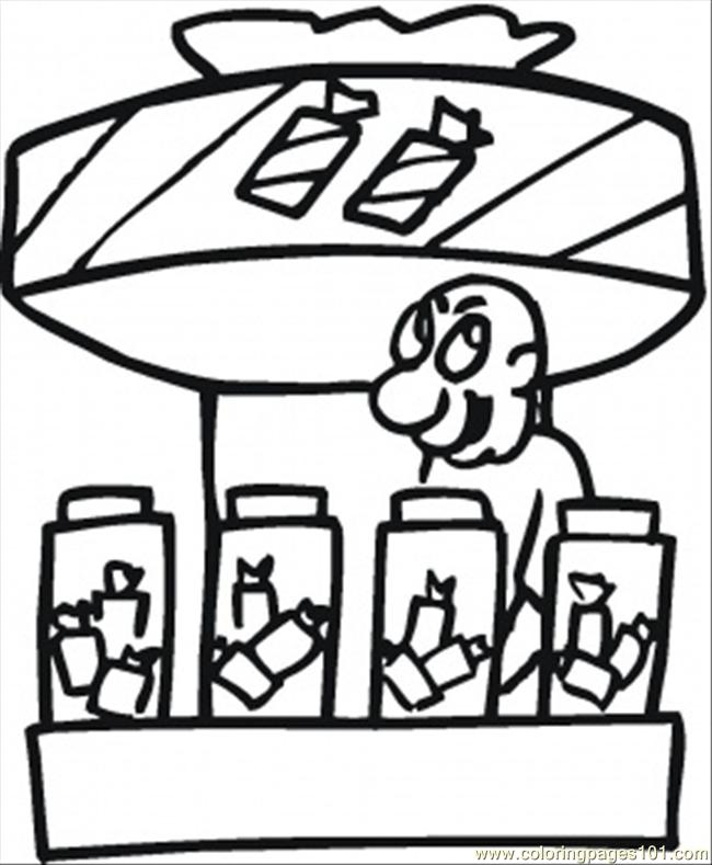 Candy Kiosk Coloring Page