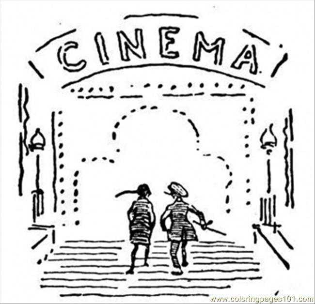 Cinema Coloring Page