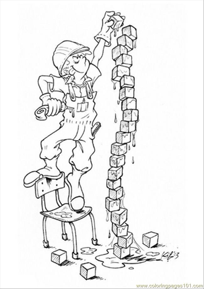 G With Building Blocks Dm5519 Coloring Page Free Buildings