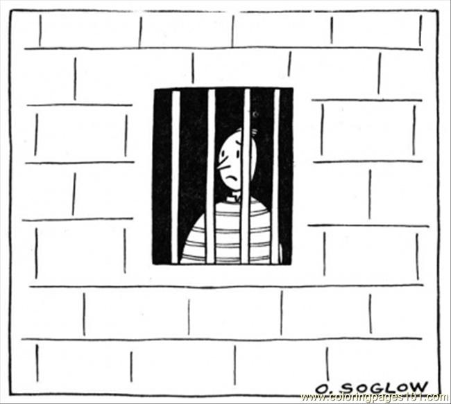 Man In The Prison Coloring Page Download