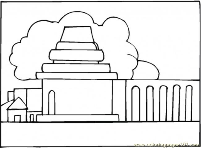 Monastery In The Clouds Coloring Page