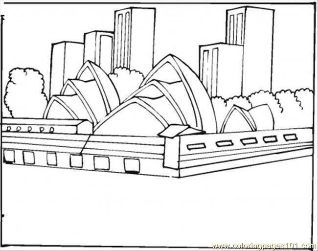Opera House In Sydney Coloring Page