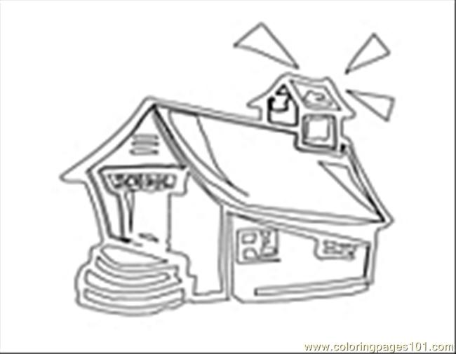 Schoolhouse01 Coloring Page