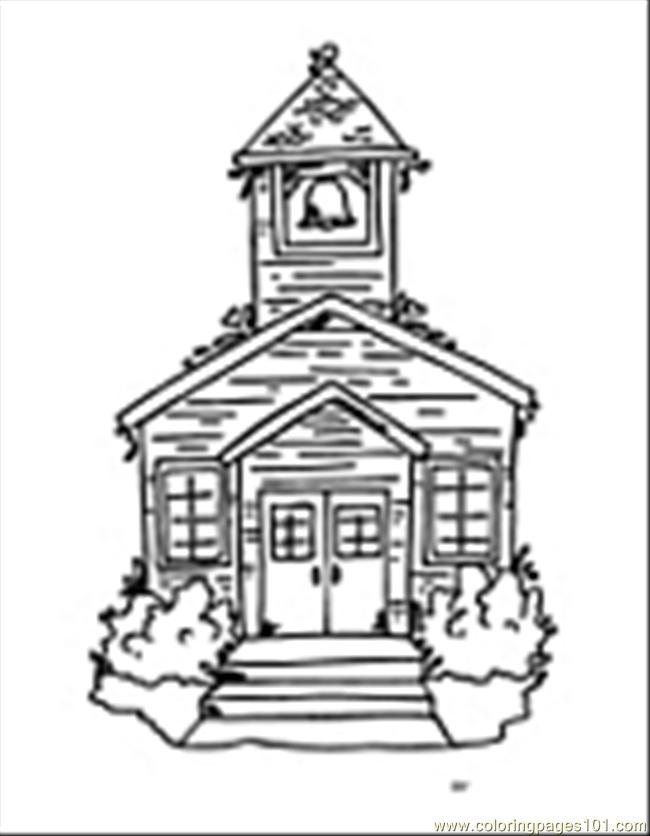 Schoolhouse04 Coloring Page