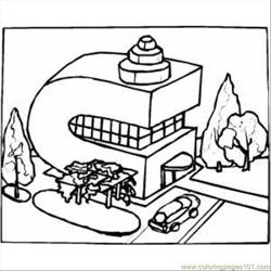 C Building Free Coloring Page for Kids