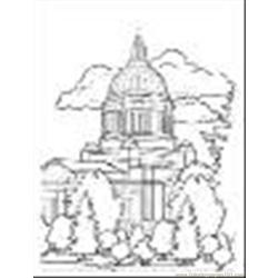 Capital Building Free Coloring Page for Kids