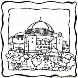 Dome Building Free Coloring Page for Kids
