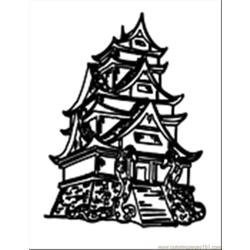 Asianbuilding01 Free Coloring Page for Kids