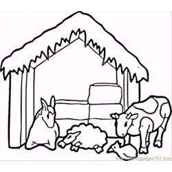Barnyard Animals Free Coloring Page for Kids