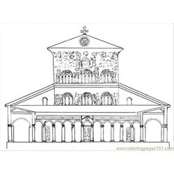 Basilica Free Coloring Page for Kids