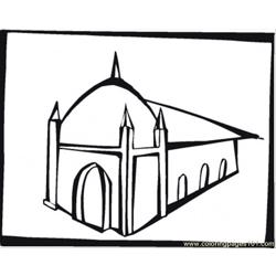Big Synagogue Free Coloring Page for Kids