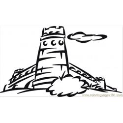 Big Tower Free Coloring Page for Kids