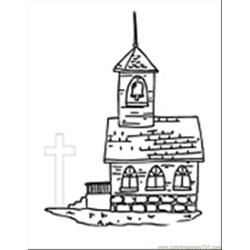 Church09 Free Coloring Page for Kids
