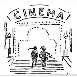 Cinema Free Coloring Page for Kids