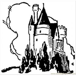 Dark Castle Free Coloring Page for Kids