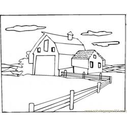 Warehouse In The Village Free Coloring Page for Kids