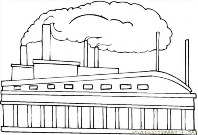 Toys Factory Coloring Page - Free Buildings Coloring Pages ...