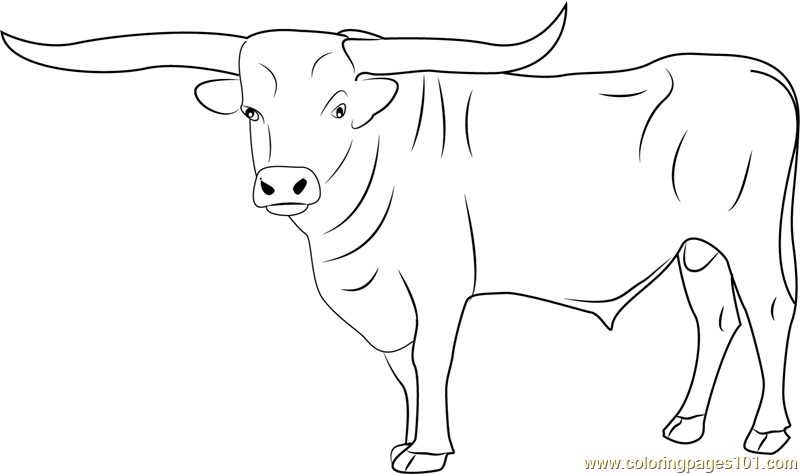 Bull Coloring Page For Kids Free Bull Printable Coloring Pages Online For Kids Coloringpages101 Com Coloring Pages For Kids
