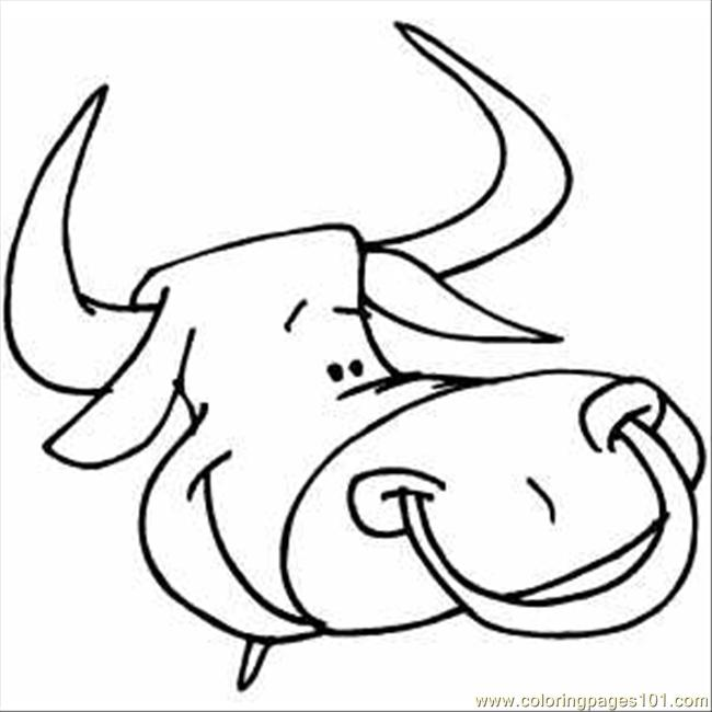 Bull Head Coloring Page Free Bull Coloring Pages